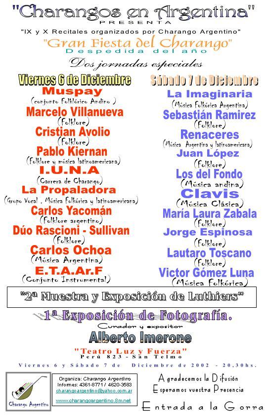 46 Diciembre Gran Fiesta de Charangos